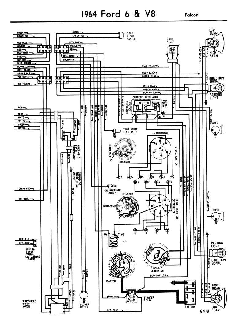 64 ford ignition wiring diagram  64  free engine image for