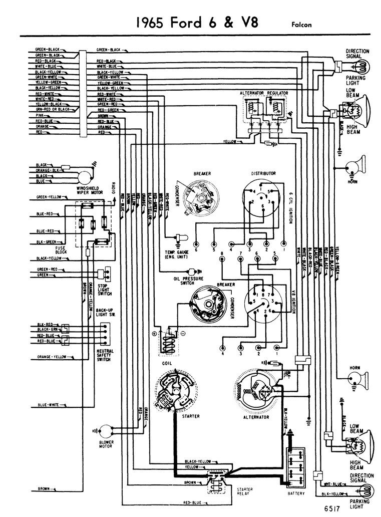 65_falcon_Page_2 ford alternator diagrams 9 on ford alternator diagrams