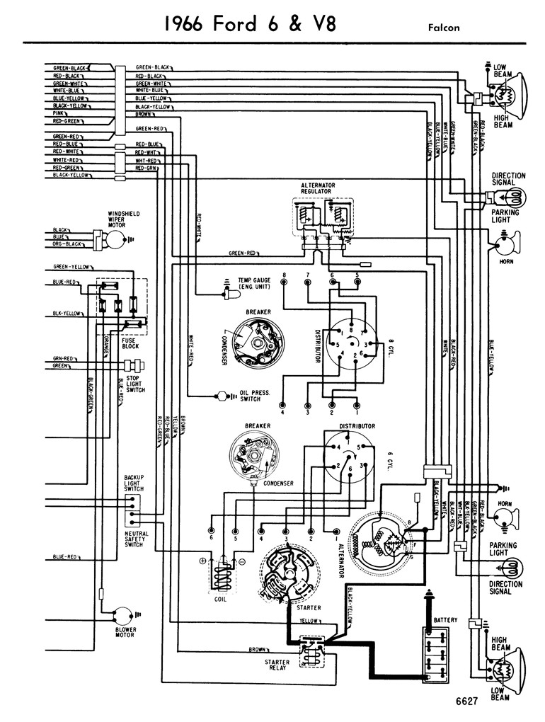 66_falcon_Page_2 1964 ford falcon ignition wiring diagram on 65 ford f100 wiring diagram